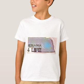 """Nebraska 4 Life"" State Map Pride Design T-Shirt"