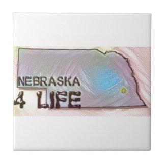"""""""Nebraska 4 Life"""" State Map Pride Design Tile"""