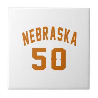 Nebraska 50 Birthday Designs Ceramic Tile