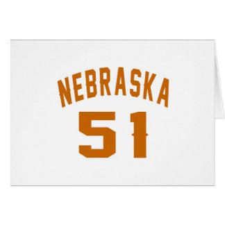 Nebraska 51 Birthday Designs Card