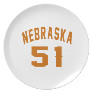 Nebraska 51 Birthday Designs Plate