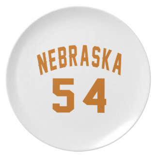 Nebraska 54 Birthday Designs Plate