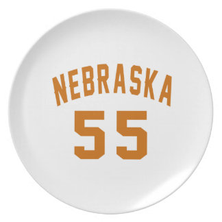 Nebraska 55 Birthday Designs Plate