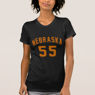Nebraska 55 Birthday Designs T-Shirt