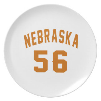 Nebraska 56 Birthday Designs Plate