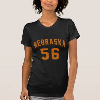 Nebraska 56 Birthday Designs T-Shirt