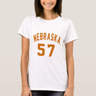 Nebraska 57 Birthday Designs T-Shirt