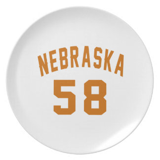 Nebraska 58 Birthday Designs Plate