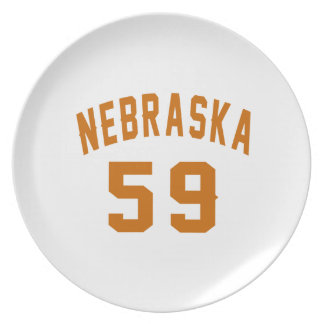 Nebraska 59 Birthday Designs Plate