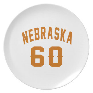 Nebraska 60 Birthday Designs Plate