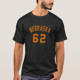 Nebraska 62 Birthday Designs T-Shirt
