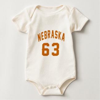 Nebraska 63 Birthday Designs Baby Bodysuit