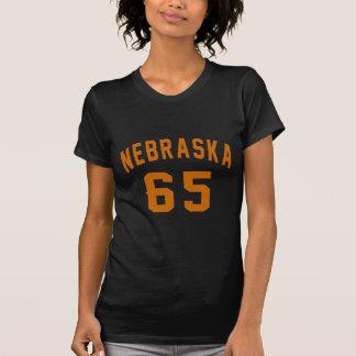 Nebraska 65 Birthday Designs T-Shirt