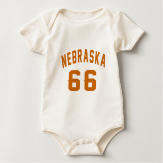 Nebraska 66 Birthday Designs Baby Bodysuit