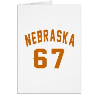 Nebraska 67 Birthday Designs Card