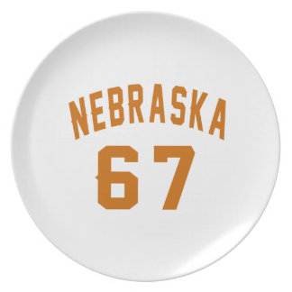 Nebraska 67 Birthday Designs Plate