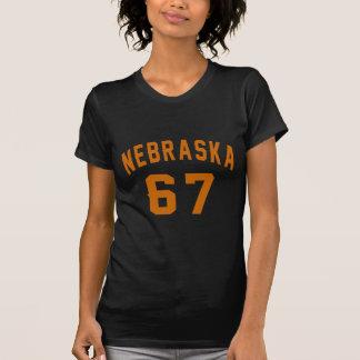 Nebraska 67 Birthday Designs T-Shirt