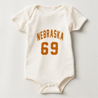 Nebraska 69 Birthday Designs Baby Bodysuit