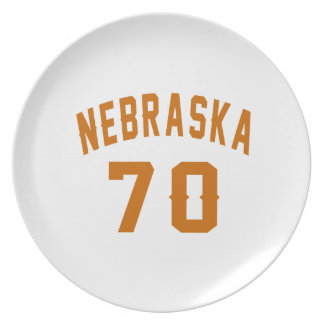 Nebraska 70 Birthday Designs Plate