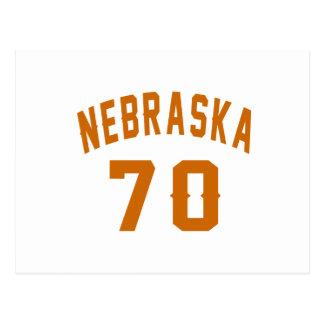 Nebraska 70 Birthday Designs Postcard