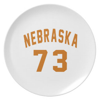 Nebraska 73 Birthday Designs Plate