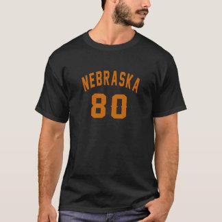 Nebraska 80 Birthday Designs T-Shirt