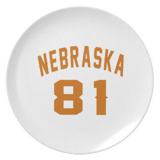 Nebraska 81 Birthday Designs Plate