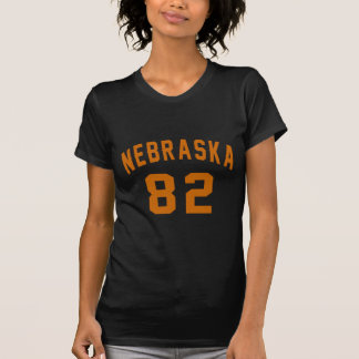 Nebraska 82 Birthday Designs T-Shirt