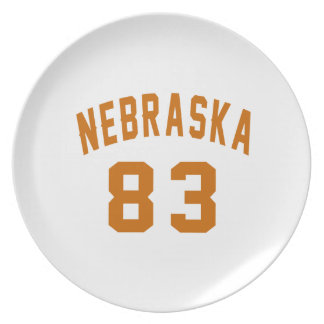 Nebraska 83 Birthday Designs Plate