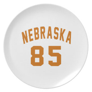 Nebraska 85 Birthday Designs Plate