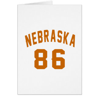 Nebraska 86 Birthday Designs Card