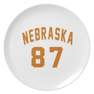 Nebraska 87 Birthday Designs Plate