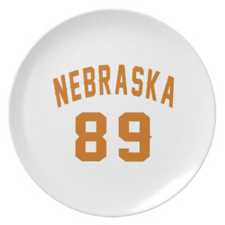 Nebraska 89 Birthday Designs Plate