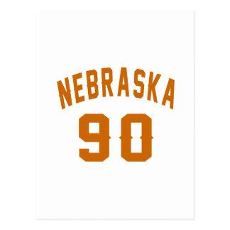 Nebraska 90 Birthday Designs Postcard
