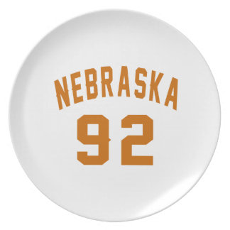 Nebraska 92 Birthday Designs Plate