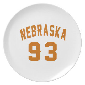 Nebraska 93 Birthday Designs Plate