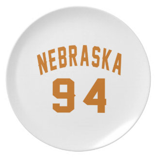 Nebraska 94 Birthday Designs Plate