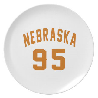 Nebraska 95 Birthday Designs Plate