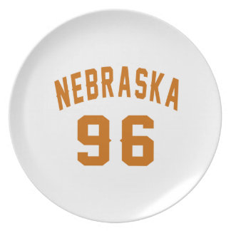 Nebraska 96 Birthday Designs Plate