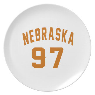Nebraska 97 Birthday Designs Plate