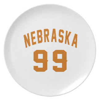 Nebraska 99 Birthday Designs Plate