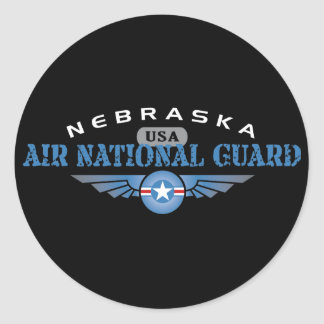 Nebraska Air National Guard Classic Round Sticker