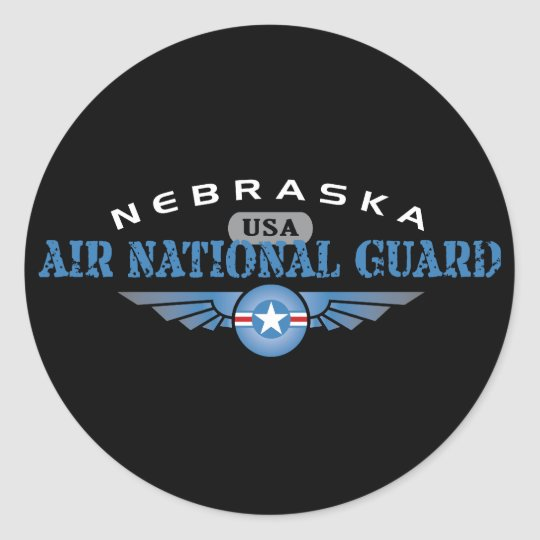 Nebraska Air National Guard Classic Round Sticker