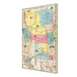 Nebraska and Kansas Canvas Print