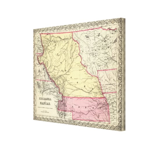 Nebraska And Kanzas Gallery Wrapped Canvas