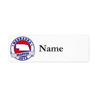 Nebraska Andy Martin Return Address Label