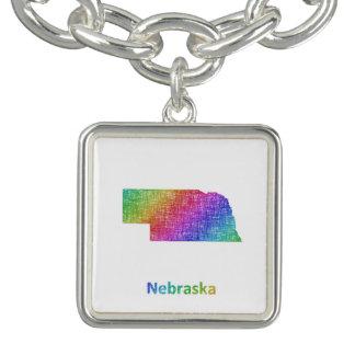 Nebraska Charm Bracelet