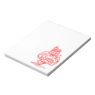 Nebraska corn cob cartoon notepad