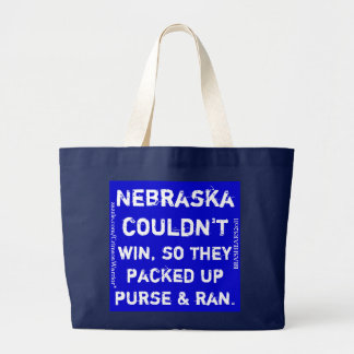 Nebraska couldn't win, so they packed up purse... large tote bag
