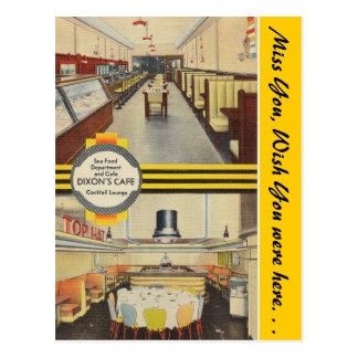 Nebraska, Dixon's Cafe & lounge Postcard